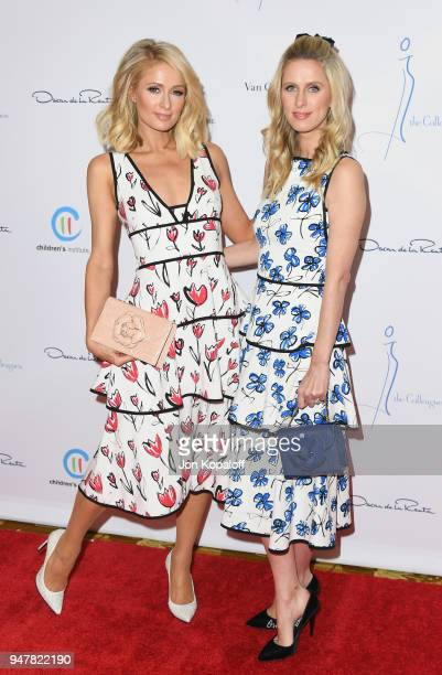 Paris Hilton and Nicky Hilton attend The Colleagues And Oscar de la Renta's Annual Spring Luncheon at the Beverly Wilshire Four Seasons Hotel on...