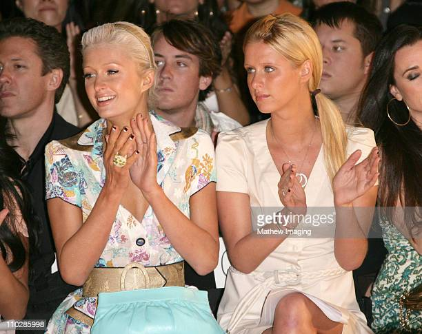 Paris Hilton and Nicky Hilton during MercedesBenz Fall 2006 LA Fashion Week at Smashbox Studios Louis Verdad Front Row and Backstage at Smashbox...