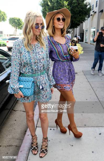 Paris Hilton and Nicky Hilton Rothschild are seen on March 17 2018 in Los Angeles California