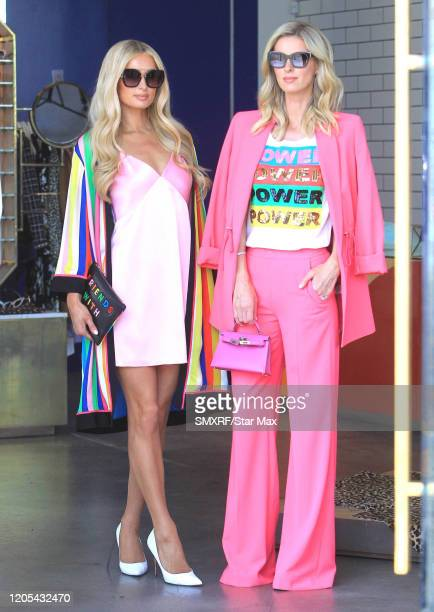 Paris Hilton and Nicky Hilton Rothschild are seen on March 5 2020 in Los Angeles California