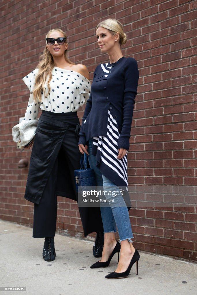 Street Style - New York Fashion Week September 2018 - Day 3 : News Photo