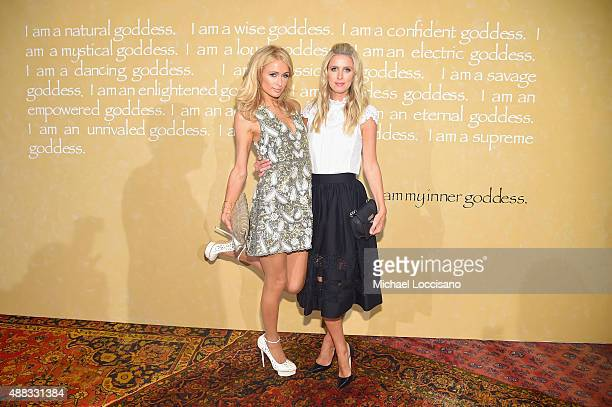 Paris Hilton and Nicky Hilton Rothschild attend Alice + Olivia By Stacey Bendet Spring 2016 during New York Fashion Week: The Shows at The Gallery,...