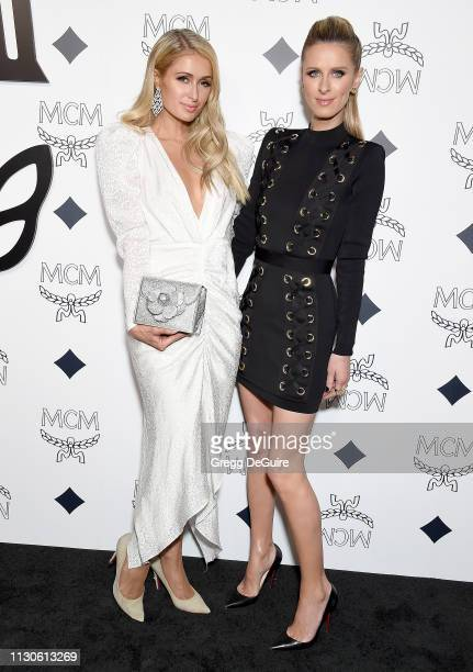 Paris Hilton and Nicky Hilton Rothschild attend MCM Global Flagship Store Grand Opening On Rodeo Drive at MCM Global Flagship Store on March 14 2019...