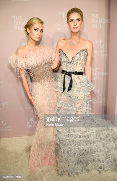Paris Hilton and Nicky Hilton Rothschild attend Rihanna's 4th Annual Diamond Ball benefitting The Clara Lionel Foundation at Cipriani Wall Street on...