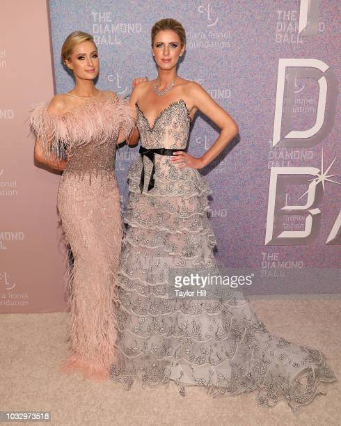 Paris Hilton and Nicky Hilton Rothschild attend the 2018 Diamond Ball at Cipriani Wall Street on September 13 2018 in New York City