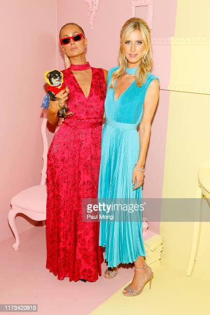 Paris Hilton and Nicky Hilton Rothschild attend the Alice Olivia by Stacey Bendet arrivals during New York Fashion Week The Shows on September 09...