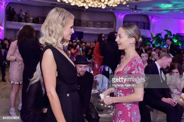 Paris Hilton and Nicole Richie attend The Daily Front Row's 4th Annual Fashion Los Angeles Awards at Beverly Hills Hotel on April 8 2018 in Beverly...
