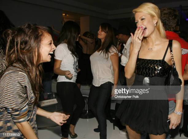 Paris Hilton and Nicole Richie during PLAYSTATION 3 Launch Inside at 9900 Wilshire Blvd in Los Angeles California United States