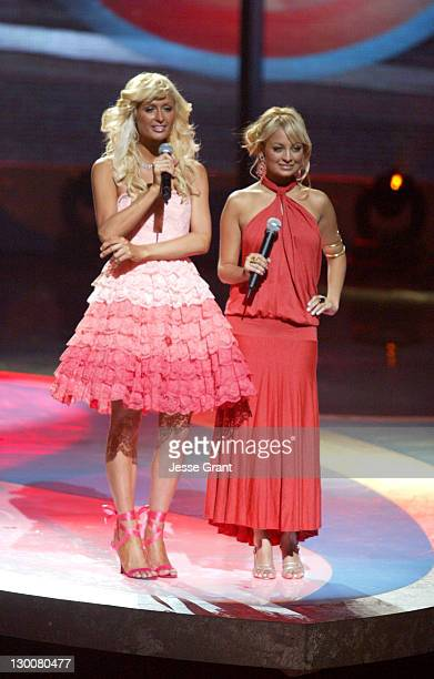 Paris Hilton and Nicole Richie during The 2004 Teen Choice Awards Show at Universal Amphitheatre in Universal City California United States