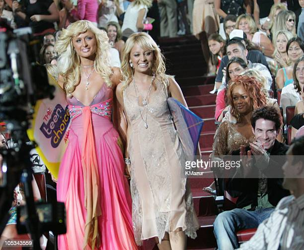 Paris Hilton and Nicole Richie during The 2004 Teen Choice Awards - Backstage and Audience at Universal Amphitheatre in Universal City, California,...