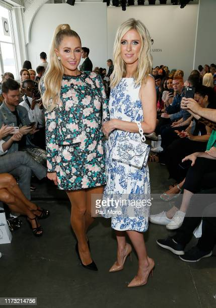 Paris Hilton and Nikki Hilton attend the Kyle & Shahida front row during New York Fashion Week at Pier 59 Studios on September 08, 2019 in New York...