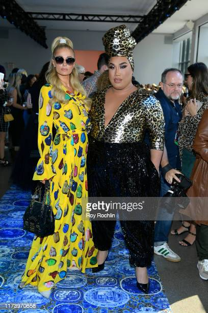 Paris Hilton and Patrick Starrr attend Libertine fashion show during New York Fashion Week The Shows at Gallery II at Spring Studios on September 11...