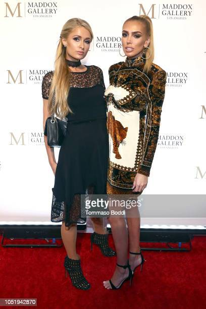 Paris Hilton and Petra Ecclestone attend the Grand Opening Maddox Gallery Los Angeles on October 11, 2018 in West Hollywood, California.