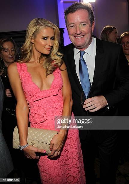 Paris Hilton and Piers Morgan attend the 3rd annual Sean Penn & Friends HELP HAITI HOME Gala benefiting J/P HRO presented by Giorgio Armani at...