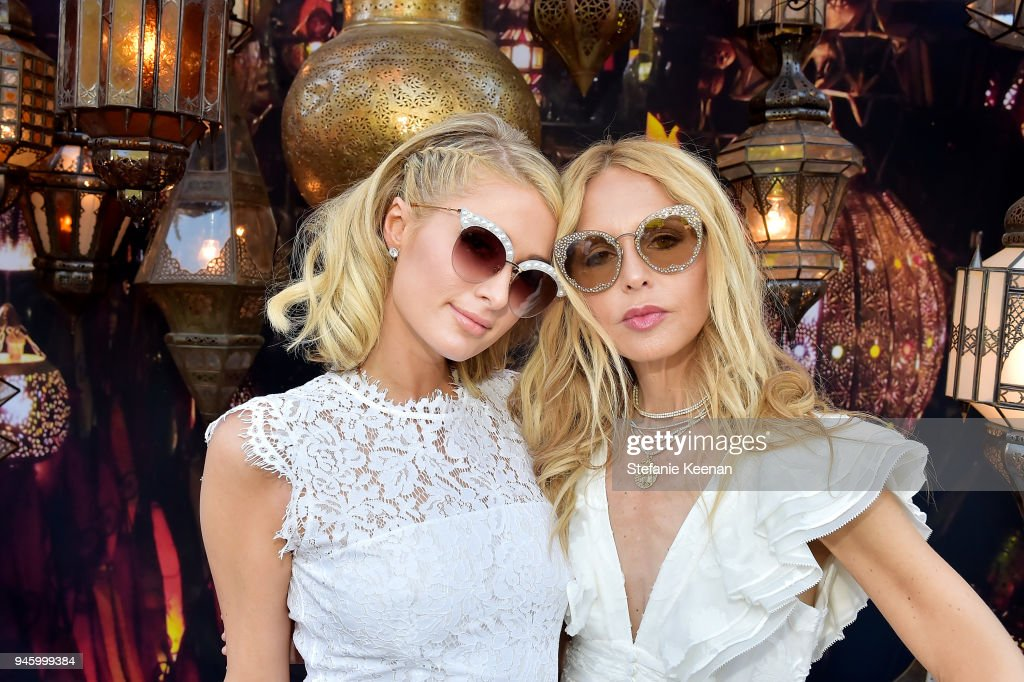 Paris Hilton (L) and Rachel Zoe attend ZOEasis 2018 at Parker Palm Springs on April 13, 2018 in Palm Springs, California.