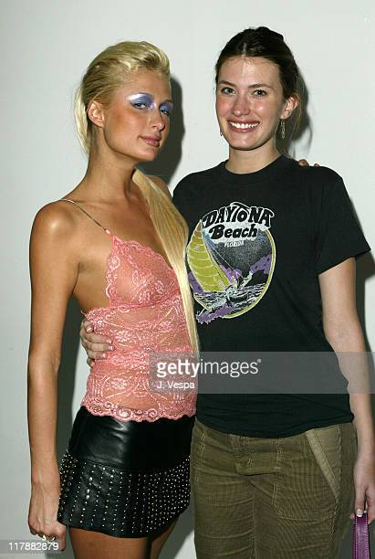 Paris Hilton and Rhea Durham during PlayStation 2 and Mark Wahlberg Host Celebrity Gaming Tournament for Charity - Inside at Club Ivar in Hollywood,...