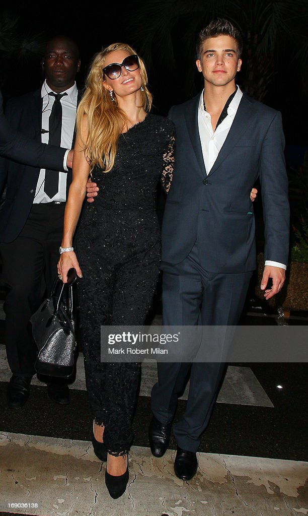 Paris Hilton and River Viiperi at the Torch club during The 66th Annual Cannes Film Festival on May 18, 2013 in Cannes, France.