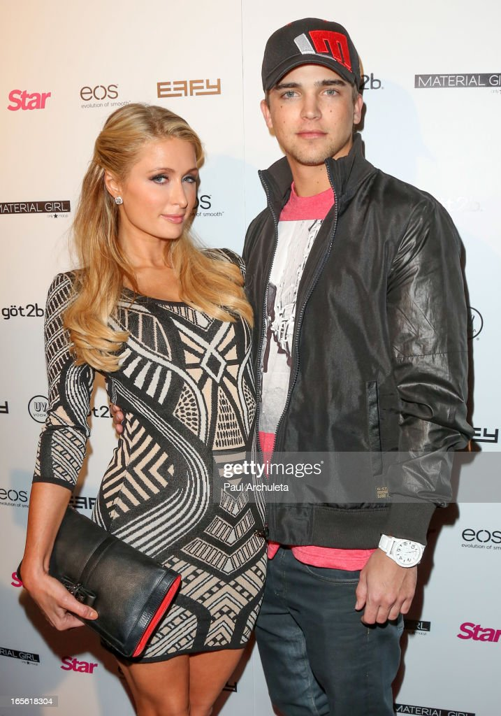 Paris Hilton (L) and River Viiperi (R) attend Star Magazine's 'Hollywood Rocks' party at Playhouse Hollywood on April 4, 2013 in Los Angeles, California.
