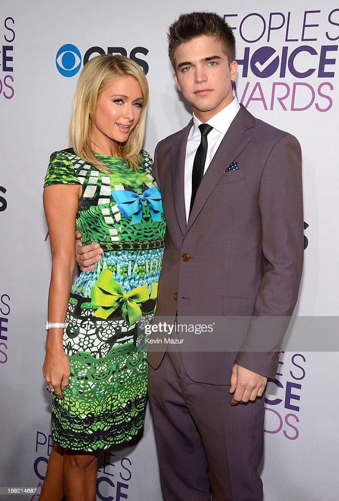 Paris Hilton and River Viiperi attend the 2013 People's Choice Awards at Nokia Theatre L.A. Live on January 9, 2013 in Los Angeles, California.