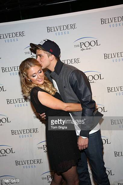 Paris Hilton and River Viiperi attend The Pool After Dark's Six year anniversary party at Harrah's Resort on Saturday May 4 2013 in Atlantic City New...