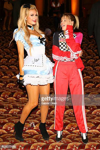 Paris Hilton and Sofia Richie attend Trick or treats The 6th Annual treats Magazine Halloween Party Sponsored by Absolut Elyx on October 29 2016 in...