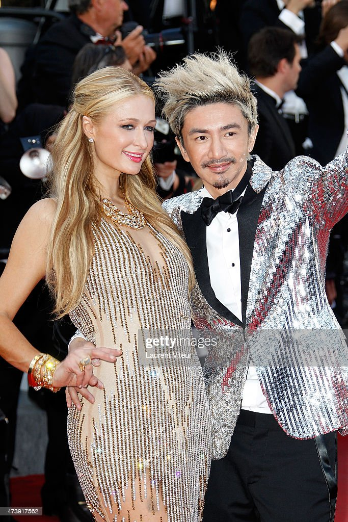 Paris Hilton and Sun Zu Yang attend the 'Inside Out' premiere during the 68th annual Cannes Film Festival on May 18, 2015 in Cannes, France.