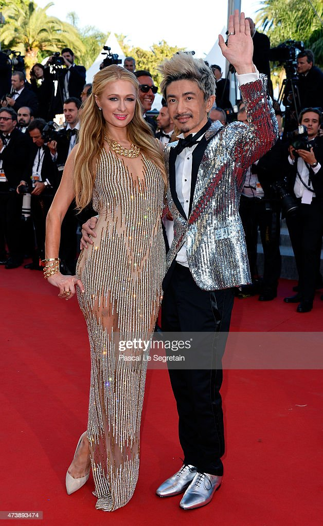Paris Hilton and Sun Zu Yang attend the Premiere of 'Inside Out' during the 68th annual Cannes Film Festival on May 18, 2015 in Cannes, France.