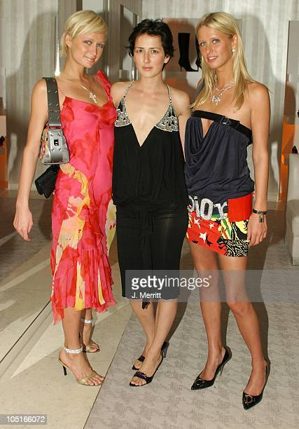 Paris Hilton Anna Getty and Nicky Hilton during La D De Dior Timepiece Launch at Dior in Beverly Hills CA United States