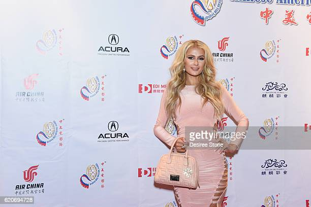 Paris Hilton appears at the 2016 CAFF Opening Ceremony And Golden Angel Awards Ceremony at The Ricardo Montalban Theatre on November 2 2016 in...