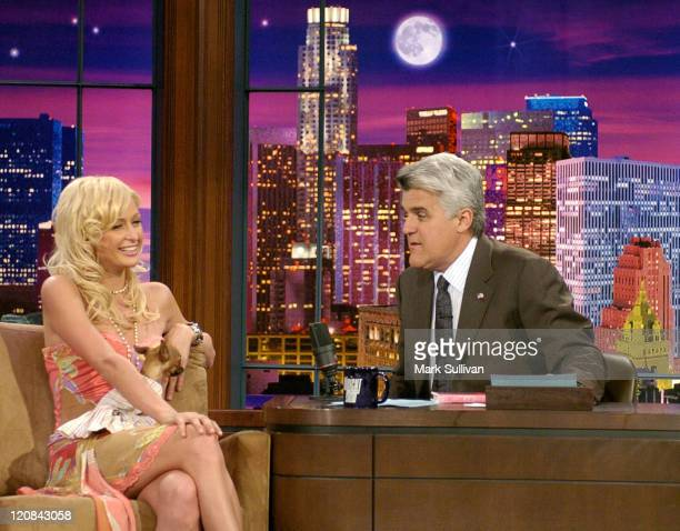 Paris Hilton appears with Jay Leno on 'The Tonight Show with Jay Leno' to promote her new book 'Confessions of an Heiress'