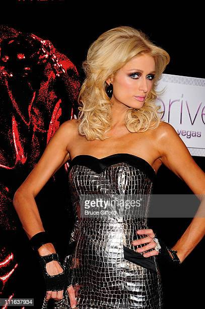 Paris Hilton arrives at a special screening of the Lionsgate film, 'Repo! The Genetic Opera' at the Planet Hollywood Resort & Casino November 6, 2008...