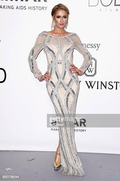 Paris Hilton arrives at amfAR's 23rd Cinema Against AIDS Gala at Hotel du CapEdenRoc on May 19 2016 in Cap d'Antibes France