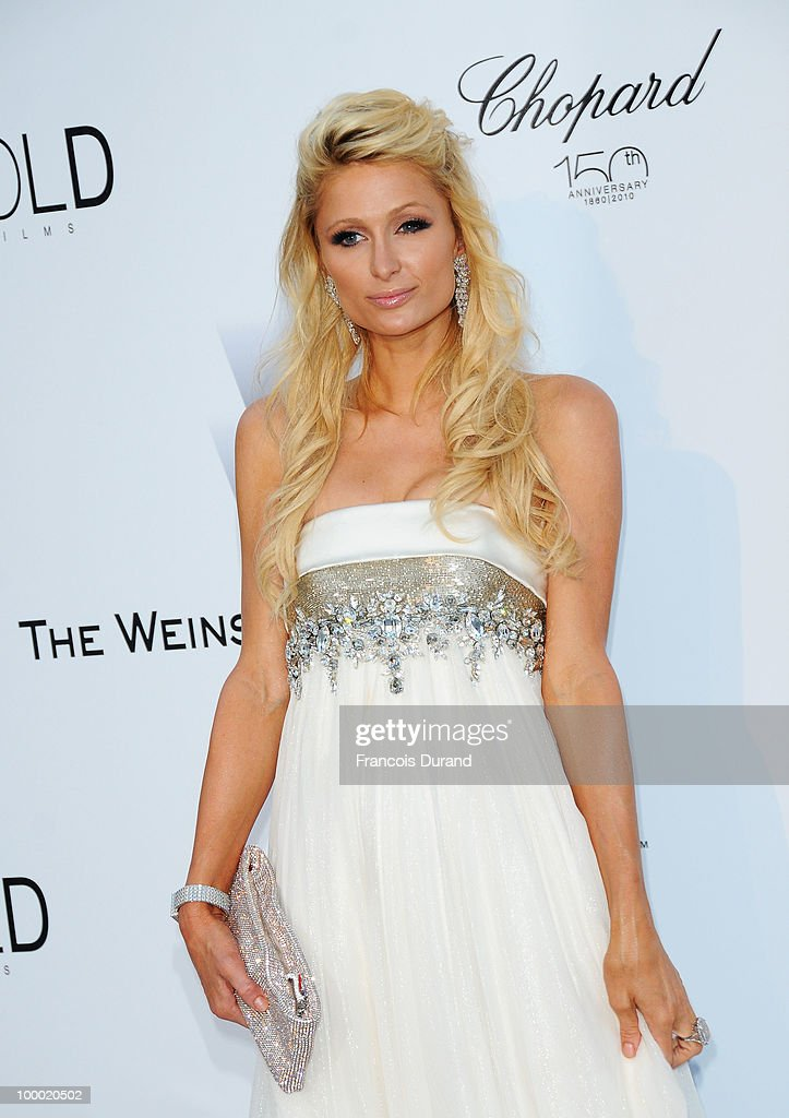 Paris Hilton arrives at amfAR's Cinema Against AIDS 2010 benefit gala at the Hotel du Cap on May 20, 2010 in Antibes, France.