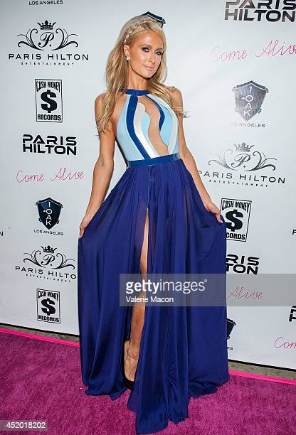 Paris Hilton arrives at Paris Hilton's New Single Come Alive Release Party at 1OAK on July 10 2014 in West Hollywood California