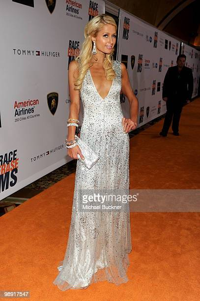 Paris Hilton arrives at the 17th Annual Race to Erase MS event cochaired by Nancy Davis and Tommy Hilfiger at the Hyatt Regency Century Plaza on May...