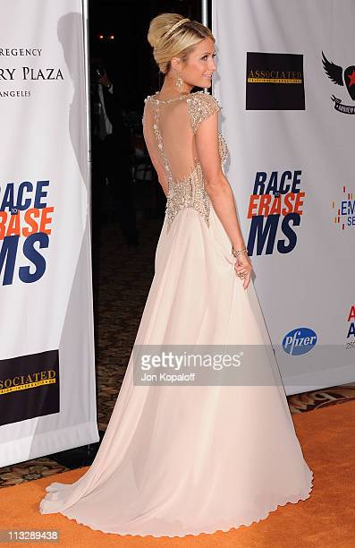 Paris Hilton arrives at the 18th Annual Race To Erase MS Event at the Hyatt Regency Century Plaza on April 29, 2011 in Century City, California.