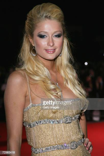 Paris Hilton arrives at the 2006 World Music Awards at Earls Court on November 15 2006 in London