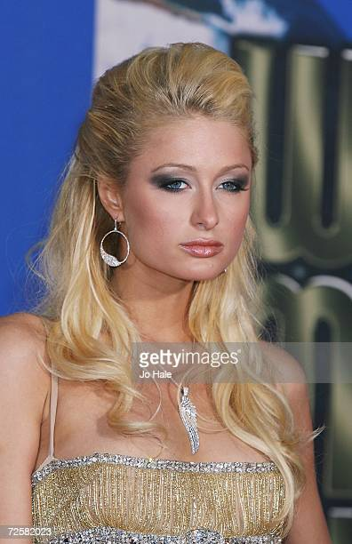Paris Hilton arrives at the 2006 World Music Awards at Earls Court on November 15 2006 in London England