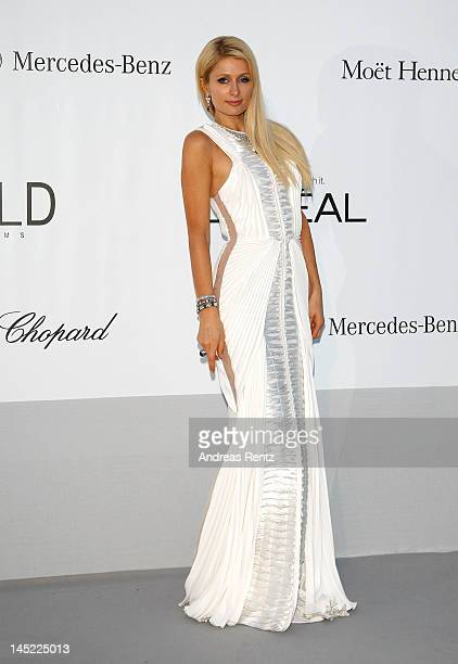Paris Hilton arrives at the 2012 amfAR's Cinema Against AIDS during the 65th Annual Cannes Film Festival at Hotel Du Cap on May 24, 2012 in Cap...