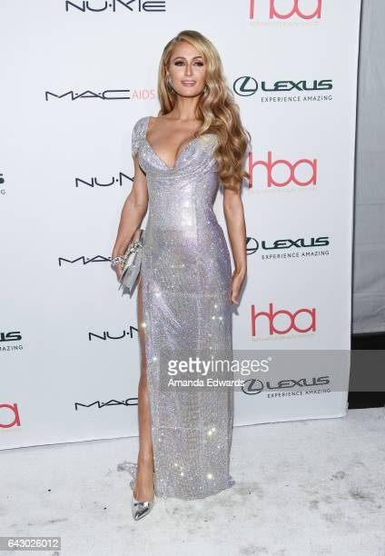 Paris Hilton arrives at the 3rd Annual Hollywood Beauty Awards at Avalon Hollywood on February 19, 2017 in Los Angeles, California.