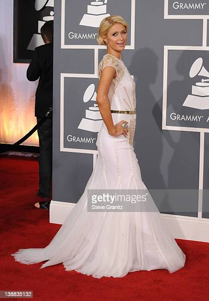 Paris Hilton arrives at The 54th Annual GRAMMY Awards at Staples Center on February 12, 2012 in Los Angeles, California.