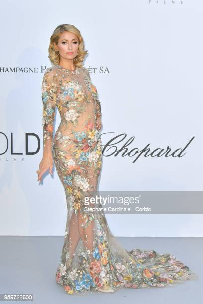 Paris Hilton arrives at the amfAR Gala Cannes 2018 at Hotel du CapEdenRoc on May 17 2018 in Cap d'Antibes France