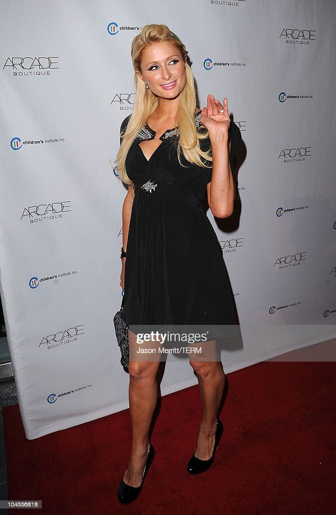 Paris Hilton arrives at 'The Autumn Party' presented by ARCADE Boutique at The London Hotel on September 29, 2010 in West Hollywood, California.