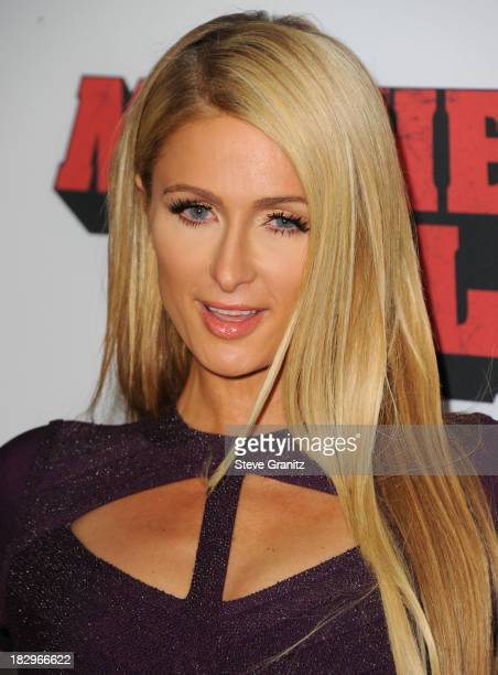 "Paris Hilton arrives at the ""Machete Kills"" - Los Angeles Premiere at Regal Cinemas L.A. Live on October 2, 2013 in Los Angeles, California."
