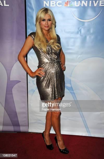 Paris Hilton arrives at the NBC Universal 2011 Winter TCA Press Tour AllStar Party at the Langham Huntington Hotel on January 13 2011 in Pasadena...