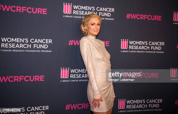 Paris Hilton arrives at the Women's Cancer Research Fund's 'An Unforgettable Evening' at the Beverly Wilshire A Four Seasons Hotel on February 27...