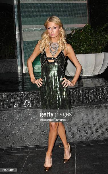 Paris Hilton arrives for the grand opening of Fontainebleau Miami Beach on November 14 2008 in Miami Beach Florida
