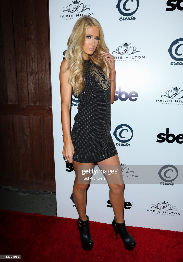 Paris Hilton arrives for the release party for her new single 'Good Time' featuring Lil Wayne at on October 8, 2013 in Hollywood, California.
