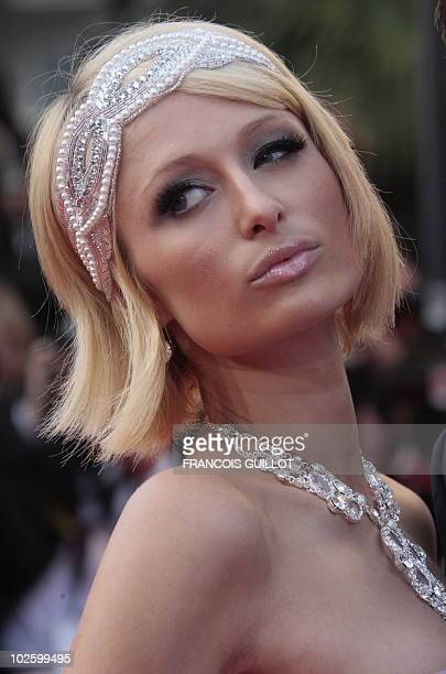 US Paris Hilton arrives for the screening of Inglourious Basterds in competition at the 62nd Cannes Film Festival on May 20 2009