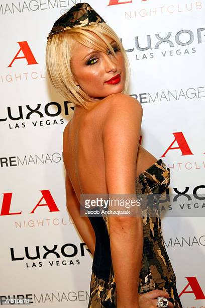 Paris Hilton arrives to host LAX nightclub's first halloween party at LAX Nightclub at the Luxor Resort Casino on October 31 2007 in Las Vegas Nevada